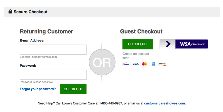 guest checkout examples