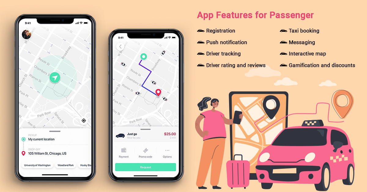 uber-like features for passenger